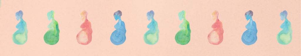 Pregnant woman watercolor
